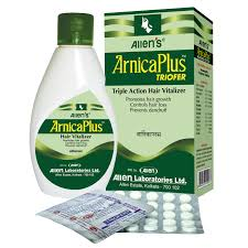ArnicaPlus and Triofer arrests excessive falling of hair, prevents premature hair graying, removes dandruff