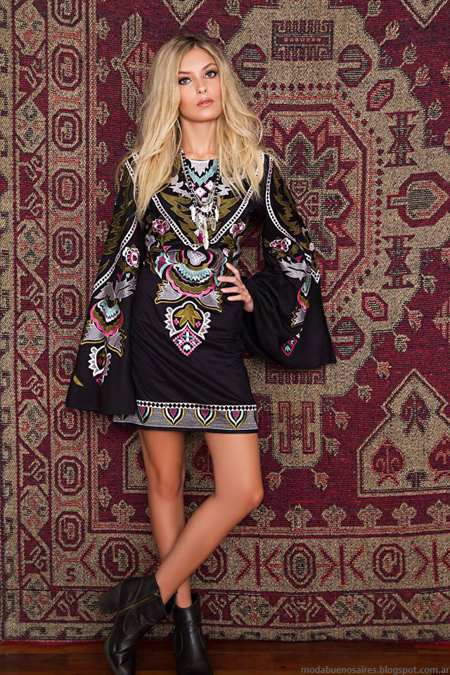 Moda 2016 vestidos mangas oxford invierno 2016 Sophya.