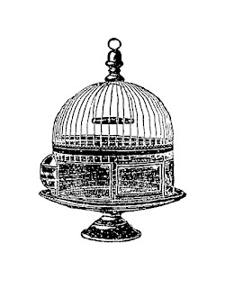 birdcage illustration image digital download
