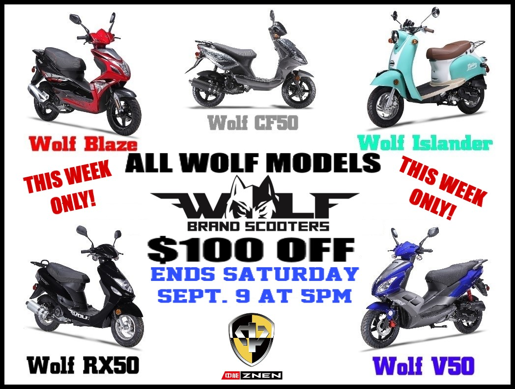 The Wolf Scooter Sale Going on Now! | Grand Rapids Scooter