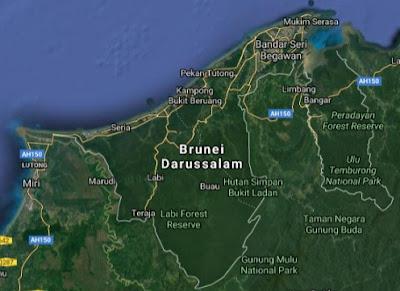 Peta Jalan Brunei Darussalam