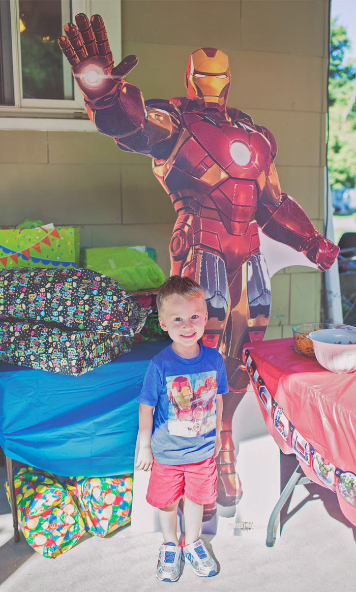 Iron Man Cardboard Cutout Birthday Party Decoration