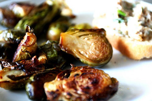 Eating Fabulously, Christopher Stewart, recipe, duck fat, brussel sprouts