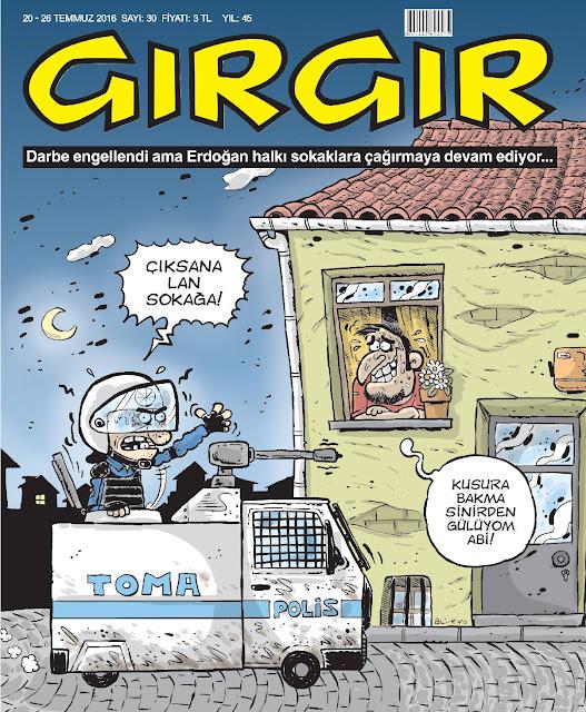 Gırgır Dergisi - 20-26 Temmuz 2016 Kapak Karikatürü