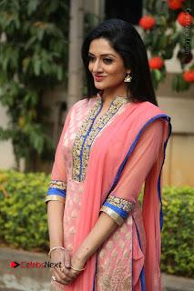 Actress Vimala Raman Stills in Beautiful Pink Salwar Kameez at (ONV) Om Namo Venkatesaya Press Meet  0069.JPG