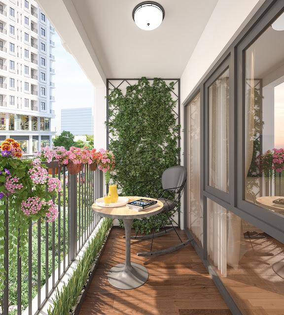 Thiết kế ban công xanh dự án Iris Garden