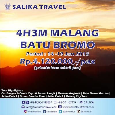 Bromo Sunrise - 4H3M Malang Batu Bromo - Salika Travel