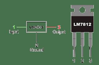 منظم الجهد 7812 Voltage regulator