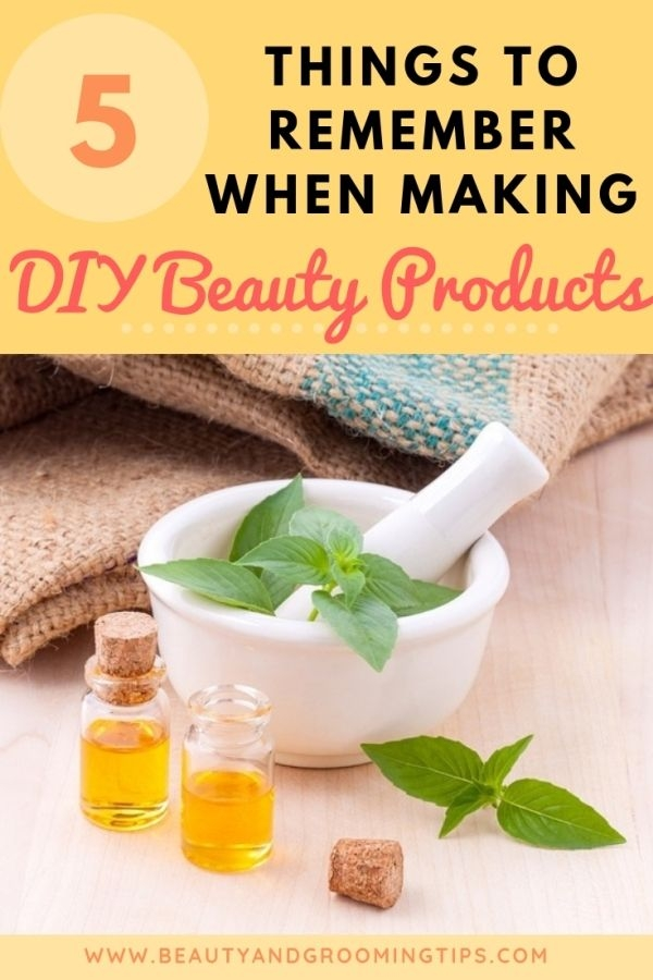making your own diy beauty product