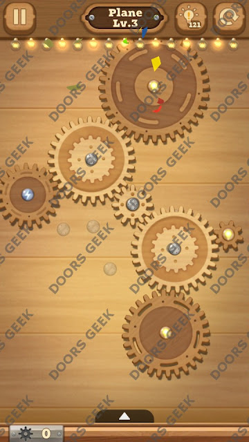 Fix it: Gear Puzzle [Plane] Level 3 Solution, Cheats, Walkthrough for Android, iPhone, iPad and iPod