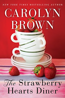 romance novel covers, contemporary romance, The Strawberry Hearts Diner by Carolyn Brown