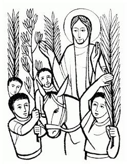 Dibujos para pintar del Domingo de Ramos