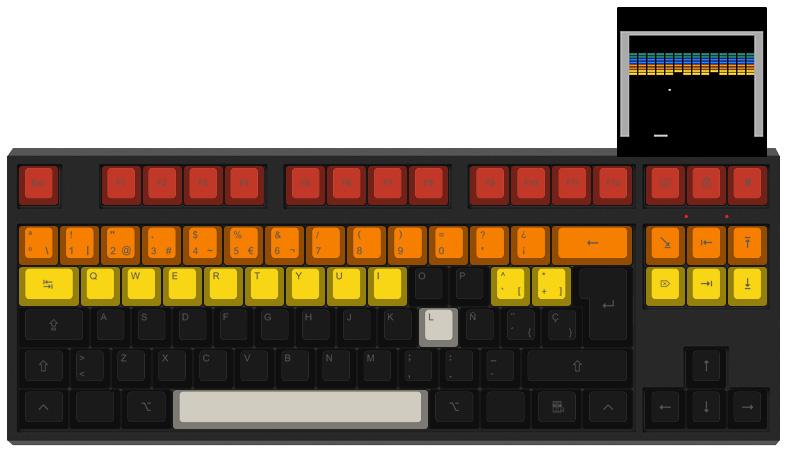 Arkanoid - Diseño teclado mecánico - dPunisher