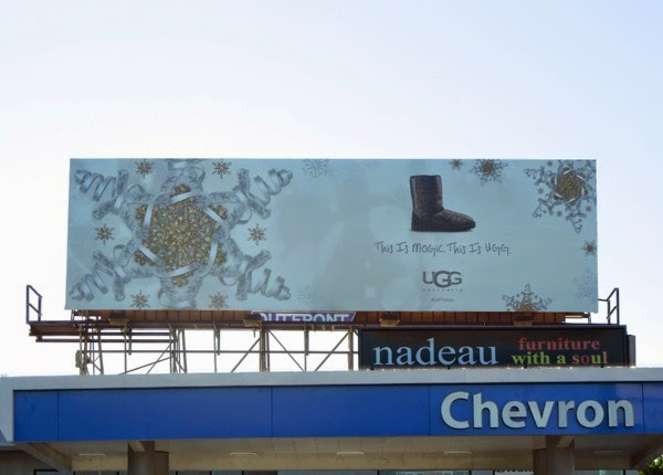 This is Magic This is UGG boot billboard