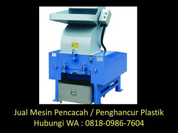 cara membuat mesin cacah plastik di bandung