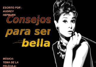 PowerPoint para el día de la mujer con consejos de Audrey Hepburn