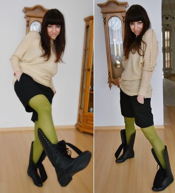 Zlatá horúčka alebo jednoducho, môj nový pulóver :-)_Katharine-fashion is beautiful_Zlatý sveter_Katarína Jakubčová_Fashion blogger