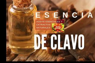 Aceite esencial de Clavo en listado de aceites y esencias para Aromaterapia