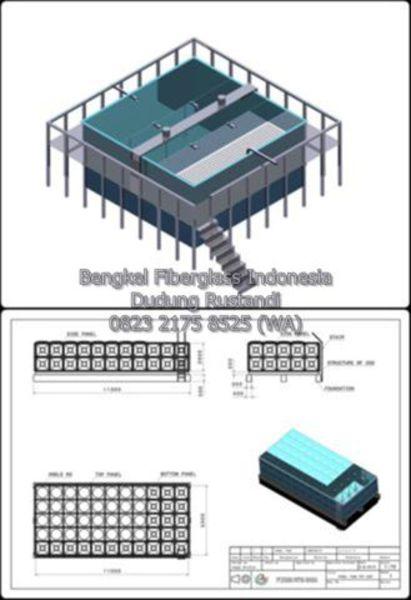 desain tangki panel fiberglass