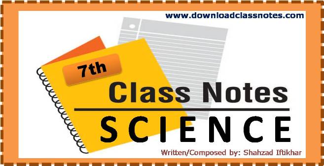 7th Class General Science Notes for Islamabad Schools and Colleges