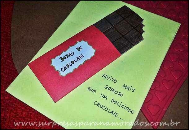 cartão chocolate