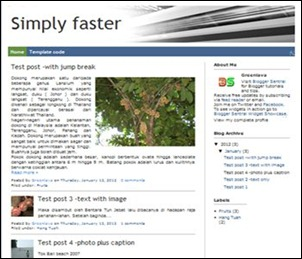 Simply faster free Blogger template by BloggerSentral