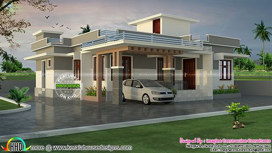1200 sq-ft Rs.18 lakhs cost estimated house plan