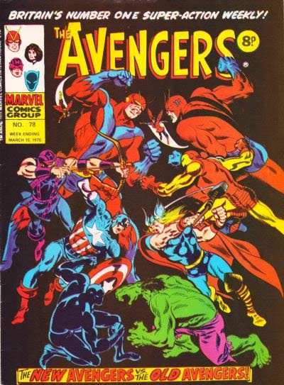 Marvel UK, Avengers #78, old vs new