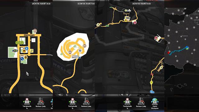 ets 2 google maps navigation night version for promods v1.9 screenshots 3