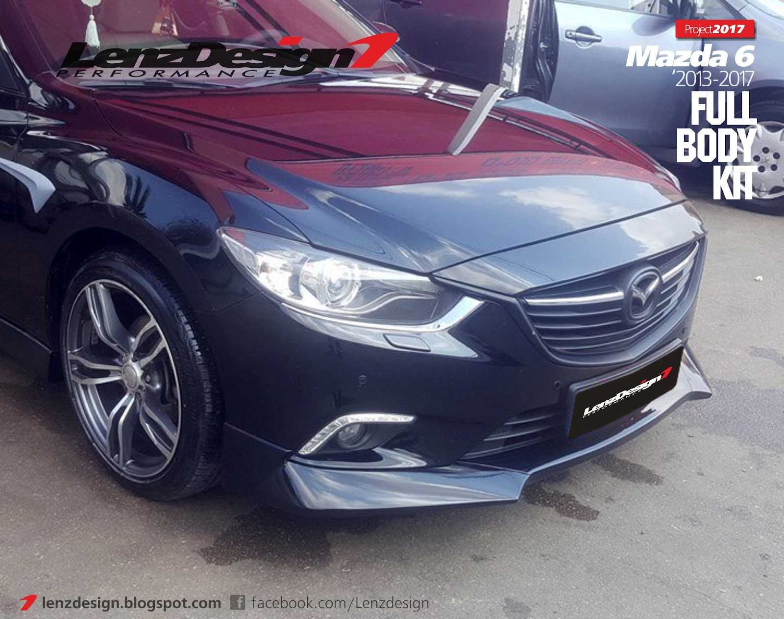 mazda 6 gj atenza lenzdesign bodykit spoilers 2013 2014. Black Bedroom Furniture Sets. Home Design Ideas