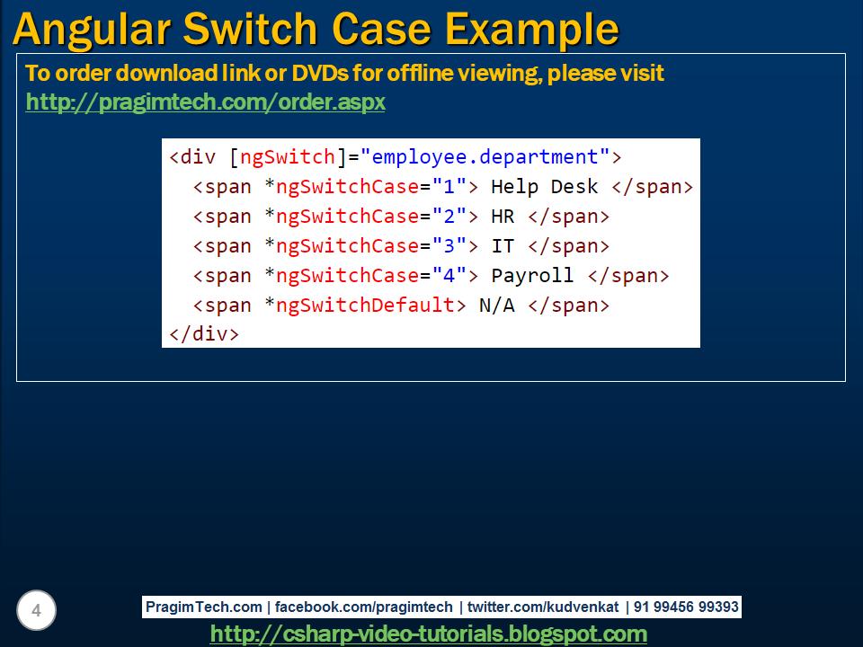angular switch case