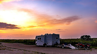 Boondocking at Badger Creek State Park, IA, day 2