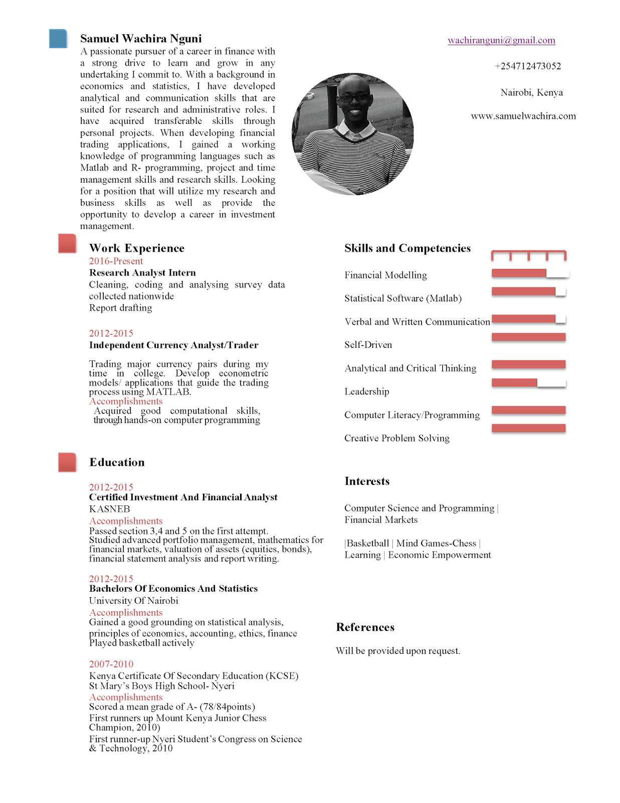 Sams Online Resume