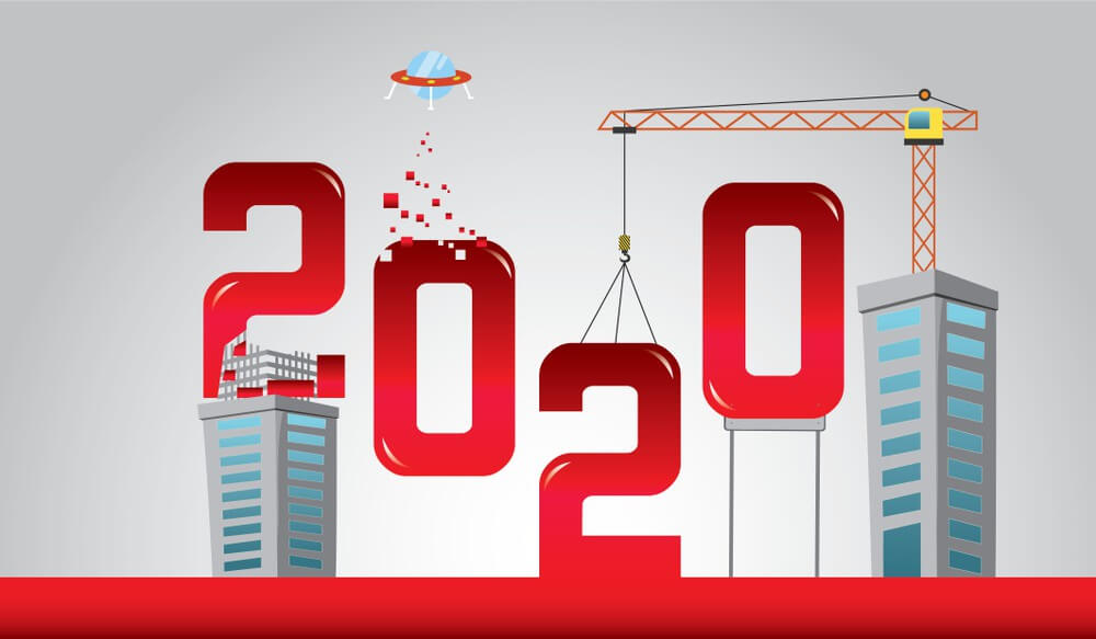 Happy New Year Wallpaper 2020 Construction Engineer
