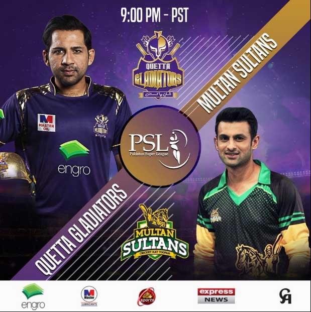 Live Quetta Gladiator Vs Multan Sultans 7 March 2018