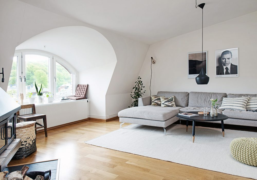 41 ideas inspiradoras para la decoraci n de su sala de for Idea sala de estar cuadrada
