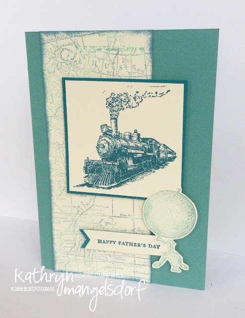 Stampin' Up! Traveler, Father's Day Card created by Kathryn Mangelsdorf
