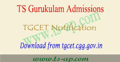 TS Gurukulam admissions 2018, Telangana gurukul cet