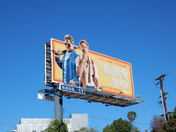 Nice Guys cut-out extension billboard