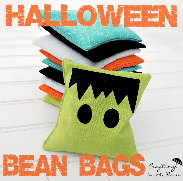 Halloween bean bags by Crafting in the Rain
