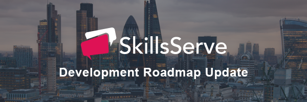 Image of london skyline with skillsserve brand logo