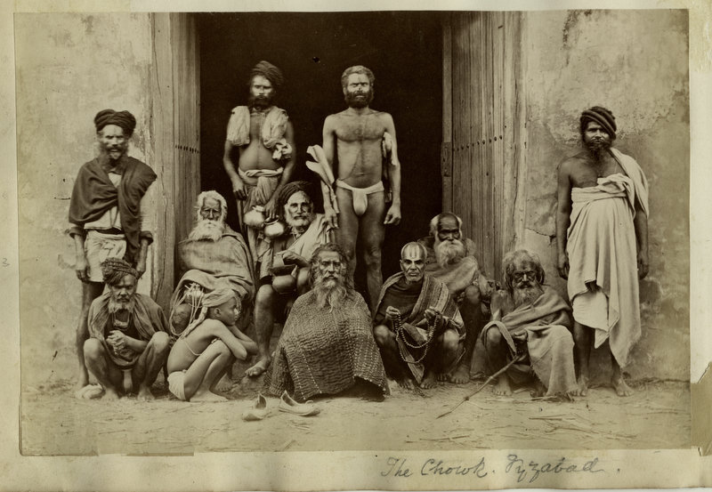 Indian Holy Men (Sadhu) at The Chowk - Faizabad c1880's
