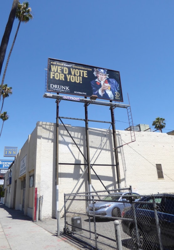 Drink History 2017 Emmy FYC Uncle Sam billboard