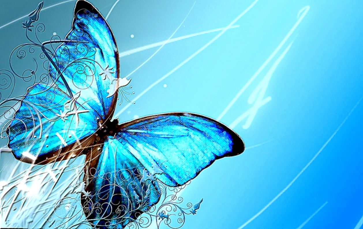 Abstract Butterfly Hd Background