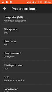 Define username and password