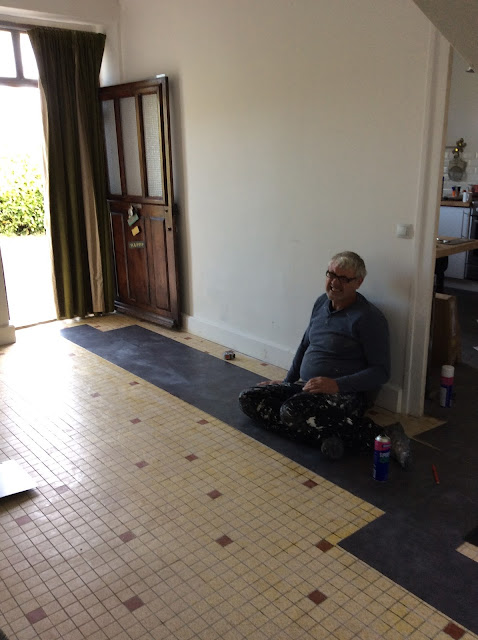 Renovation project- laying laminate tiles