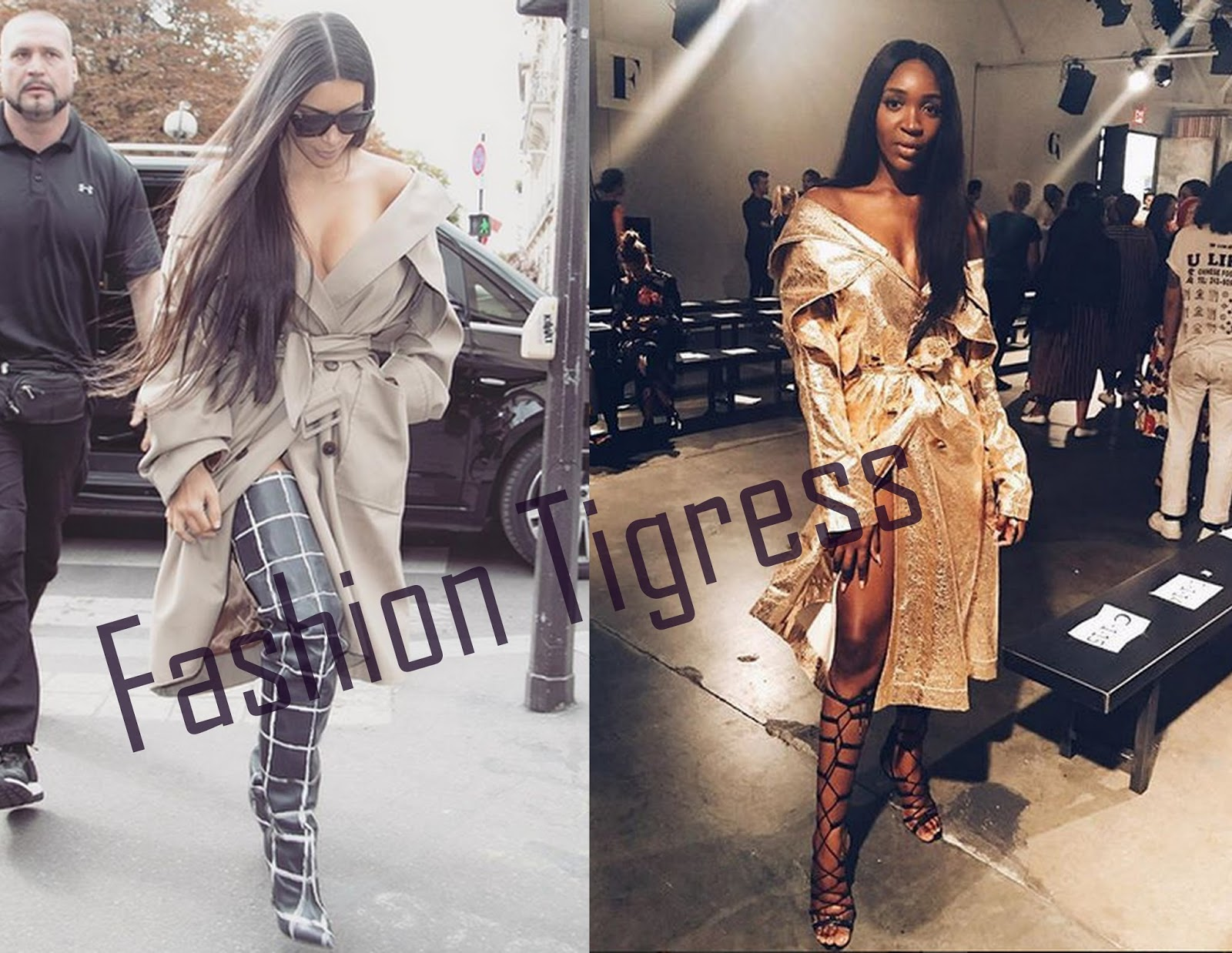 ee257521ce Stylish Sisi Alert  Idia Aisien Copies Kim Kardashian s Look at  NYFW look