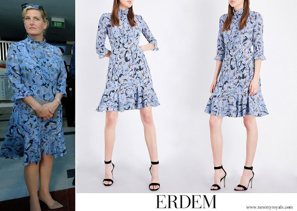 The Countess of Wessex wore Erdem paisley vine-print silk-crepe de chine dress
