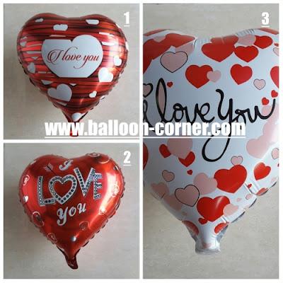 Balon Foil Hati Seri Valentine / Foil Love Seri Valentine