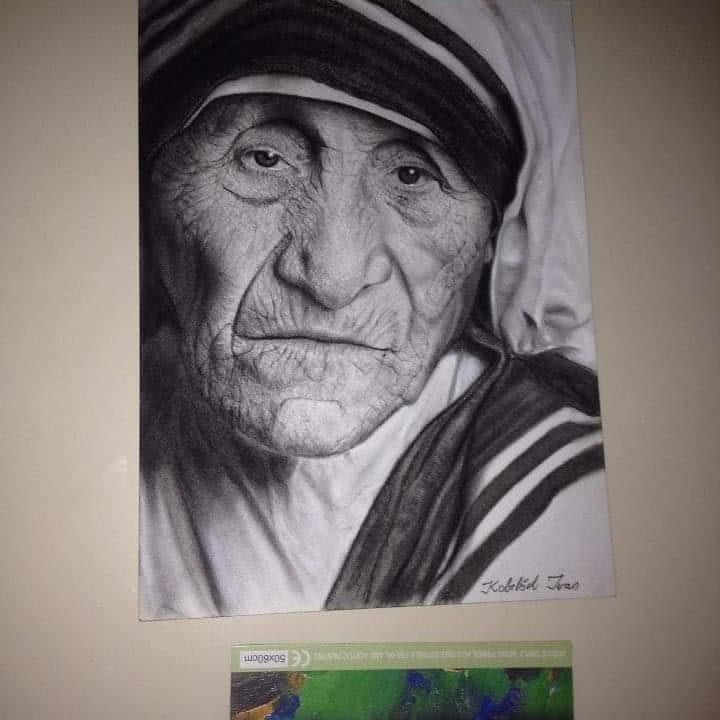 11-Mother-Teresa-Ivan-Kobilšek-Pencil-Portrait-www-designstack-co